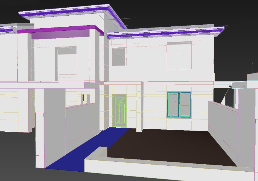 progettazione interni modello 3d render